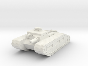 Infantry Support Tank in White Strong & Flexible