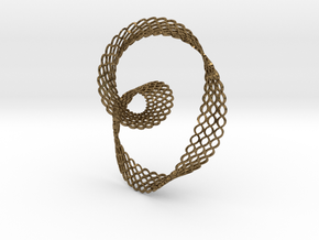 Wave Knot Pendant-stylized  in Natural Bronze