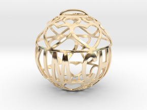 Kim Chi Lovaball in 14k Gold Plated Brass