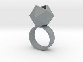 Icosahedron Planter Ring in Polished Metallic Plastic: 5 / 49