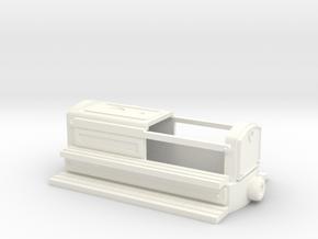 Hallig Lore oder Motor Draisine für Busch Feldbahn in White Processed Versatile Plastic