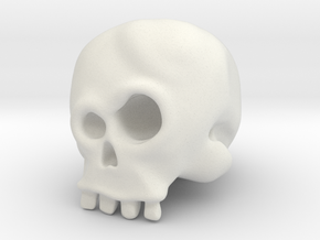 Skull Bob in White Natural Versatile Plastic
