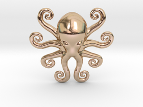 Cthulhu Dreaming in 14k Rose Gold Plated Brass