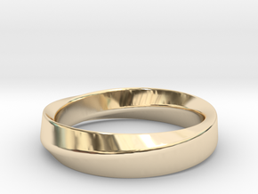Mobius in 14k Gold Plated Brass