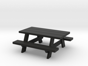 Wooden Picnic Table S-Scale in Black Strong & Flexible
