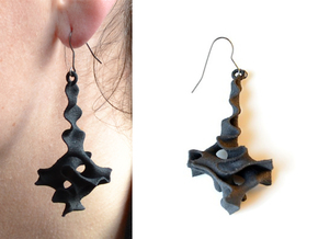 Earrings Pendule in Black Natural Versatile Plastic