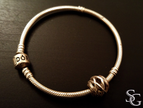 Geometric Charm (compatible with Pandora bracelet) in Polished Silver
