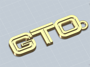 KEYCHAIN LOGO GTO CLASSIC in Polished Nickel Steel