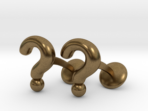 Question Mark Cufflinks in Natural Bronze