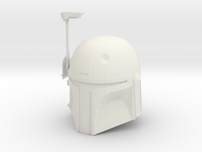 Boba Fett ESB Helmet 1/4th Scale With Visor in White Strong & Flexible