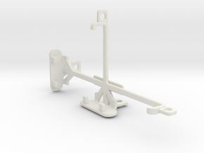 HTC Desire 510 tripod & stabilizer mount in White Natural Versatile Plastic