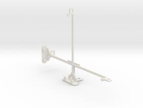 Jolla Tablet tripod & stabilizer mount in White Natural Versatile Plastic