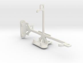 Motorola Moto G tripod & stabilizer mount in White Natural Versatile Plastic