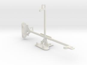 Motorola Nexus 6 tripod & stabilizer mount in White Natural Versatile Plastic