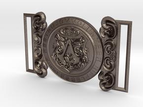 Evie Frye Belt Buckle in Polished Bronzed Silver Steel