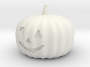 Halloweem pumpkin with flashing RGB LED and CR2032 in White Natural Versatile Plastic