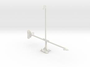 Samsung Galaxy Tab 3 10.1 P5210 tripod mount in White Natural Versatile Plastic
