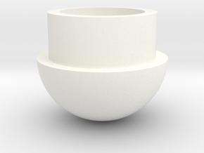 Food Capsule Cap in White Processed Versatile Plastic