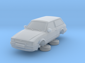 Ford Escort Mk4 1-76 2 Door Small Van Hollow (repa in Smooth Fine Detail Plastic