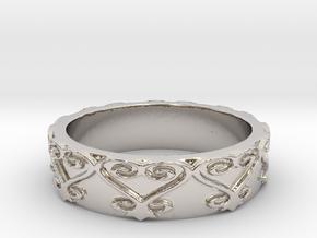 Sankofa Ring Size 7 in Platinum