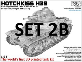 ETS35X01 Hotchkiss H39 - Set 2 option B - SA38 in Smooth Fine Detail Plastic