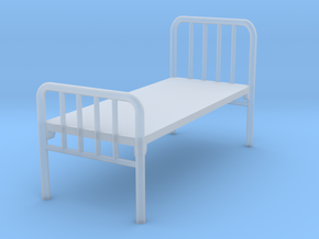 1:48 Hospital Bed in Smooth Fine Detail Plastic