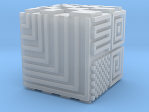 Opical Art Cube in Smooth Fine Detail Plastic
