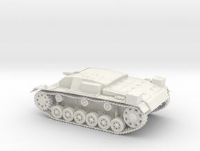 Stug III Ausf A 1:48 28mm Wargames in White Strong & Flexible