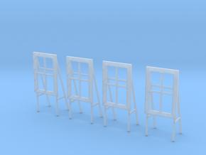 [4st] Actieraam 1:87 (H0) in Smooth Fine Detail Plastic