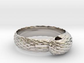 US10 Snake Ring: Tritium in Platinum