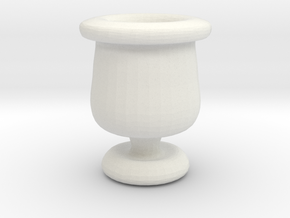 Mini Apothecary Pot - style 2 in White Natural Versatile Plastic