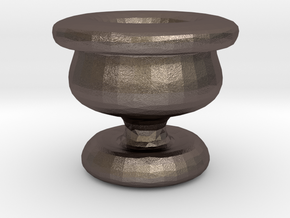 Mini Apothecary Pot - chalice design in Polished Bronzed Silver Steel