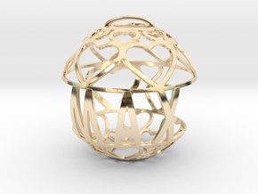 Max Lovaball in 14k Gold Plated Brass