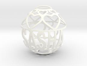 Sasha Lovaball in White Processed Versatile Plastic