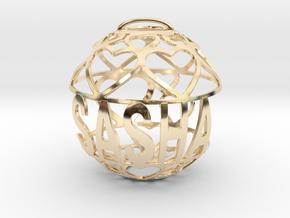 Sasha Lovaball in 14k Gold Plated Brass