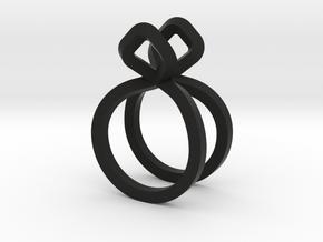 Sharp Rythm Allure, US size 5, Ring d=15,5 mm(all  in Black Natural Versatile Plastic: 5 / 49