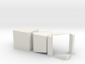 Prince Rupert's Cube in White Natural Versatile Plastic