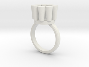 Lampadario Ring in White Natural Versatile Plastic