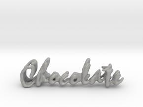 Chocolate Chocolate Necklace in Aluminum