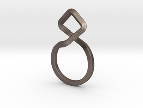 A-LINE Dancing D.011 Ring US size 3.5, d=14,5mm in Polished Bronzed Silver Steel: 3.5 / 45.25