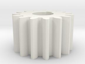 Cylindrical gear Mn=1 Z=15 AP20° Beta0° b=10 HoleØ in White Strong & Flexible