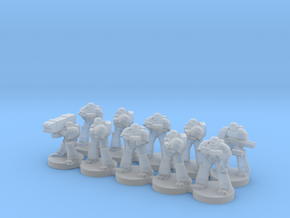 8mm Super Soldiers in Warrior Plate (squad) in Frosted Ultra Detail