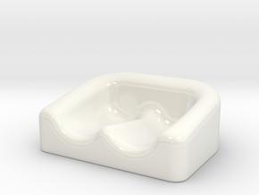 Earplug Dish 01 in Gloss White Porcelain