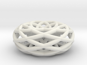 doubleishTorus 6 loop - medium in White Natural Versatile Plastic
