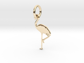 Flamingo Bird Pendant in 14k Gold Plated