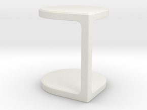 Miniature Coot Table - Gordon Guillaumier in White Natural Versatile Plastic: 1:12
