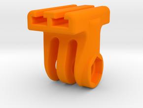GoPro T-Rail Adapter in Orange Processed Versatile Plastic