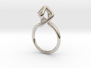 Dancing D.022, Ring US size 5.5, d=16mm in Rhodium Plated Brass: 5.5 / 50.25