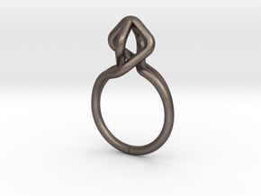 Dancing D.022, Ring US size 5.5, d=16mm in Polished Bronzed Silver Steel: 5.5 / 50.25