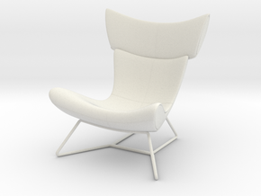 Miniature Imola Chair - Bo Concept in White Natural Versatile Plastic: 1:12